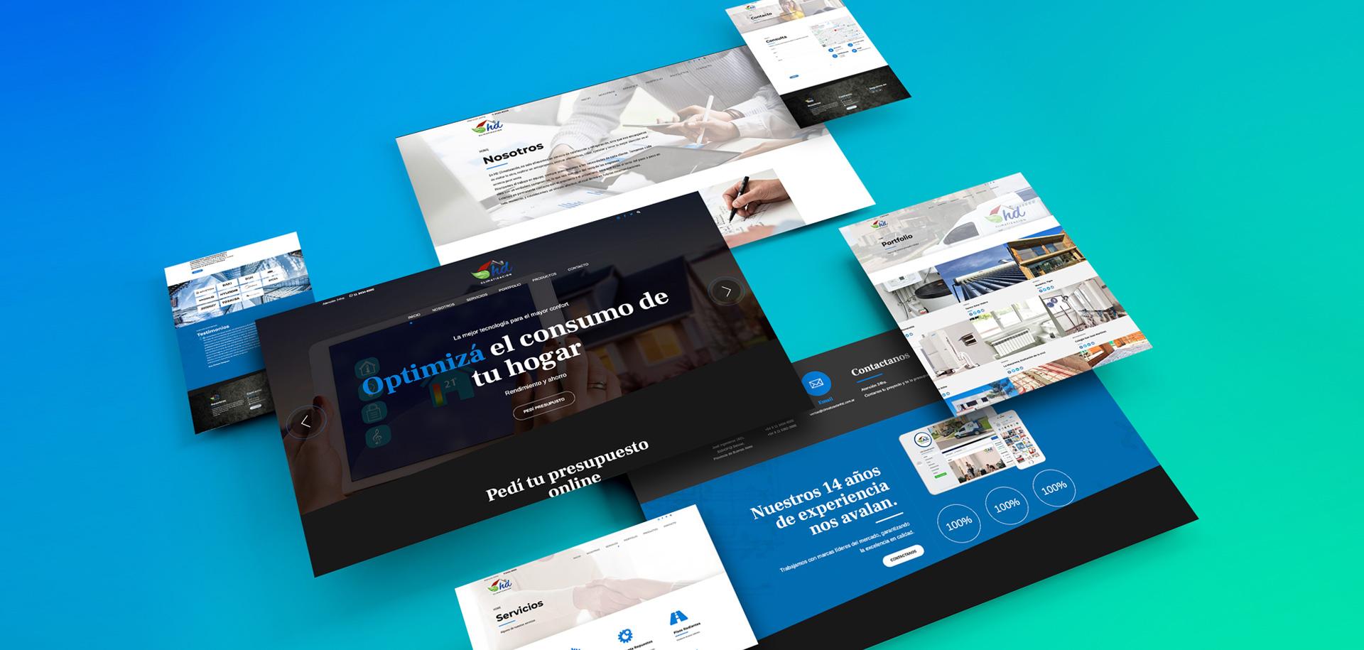 Sitio Web HD Climatización
