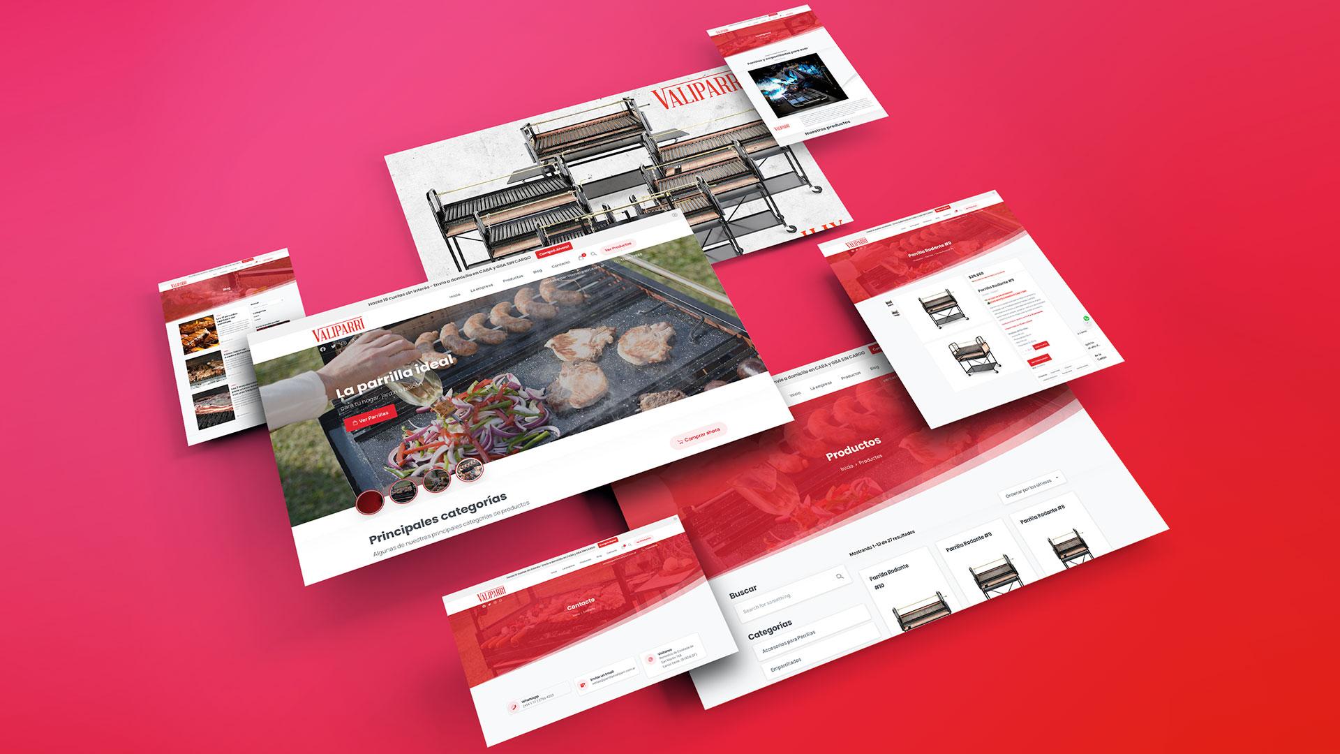 Desarrollo de Sitio web Parrillas Valiparri